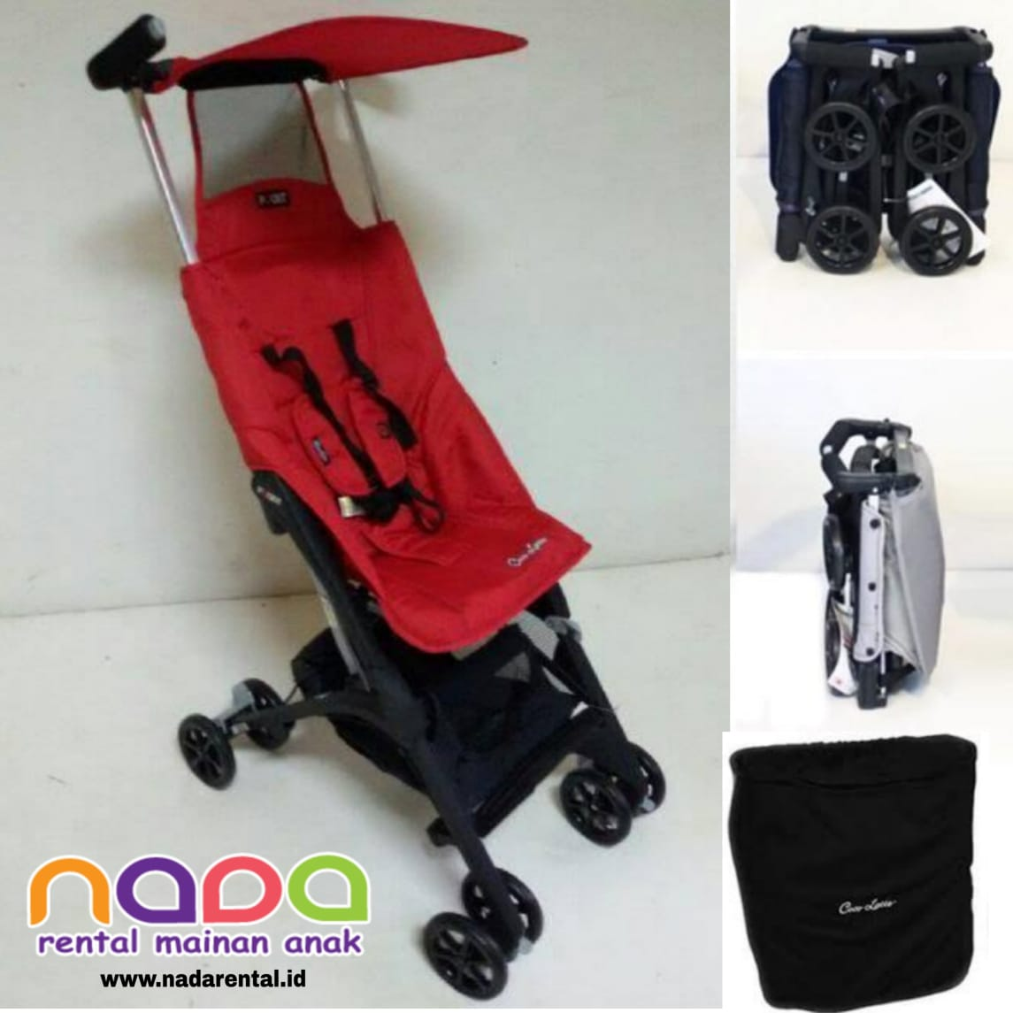 STROLLER POCKIT RED GEN 2