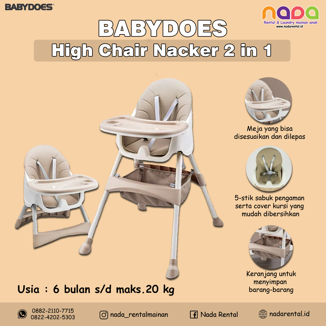 HIGH CHAIR BABYDOES NACKER