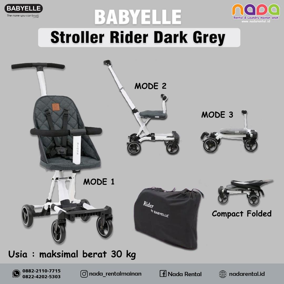 STROLLER BABYELLE RIDER DARK GREY