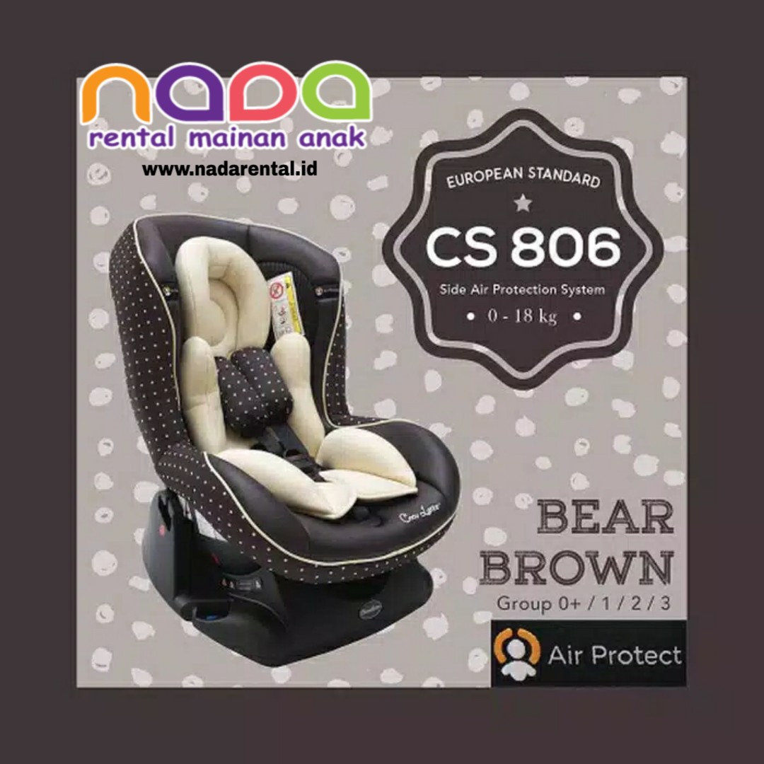 COCOLATTE CS 806 CARSEAT BROWN POLKA AIR PROTECT