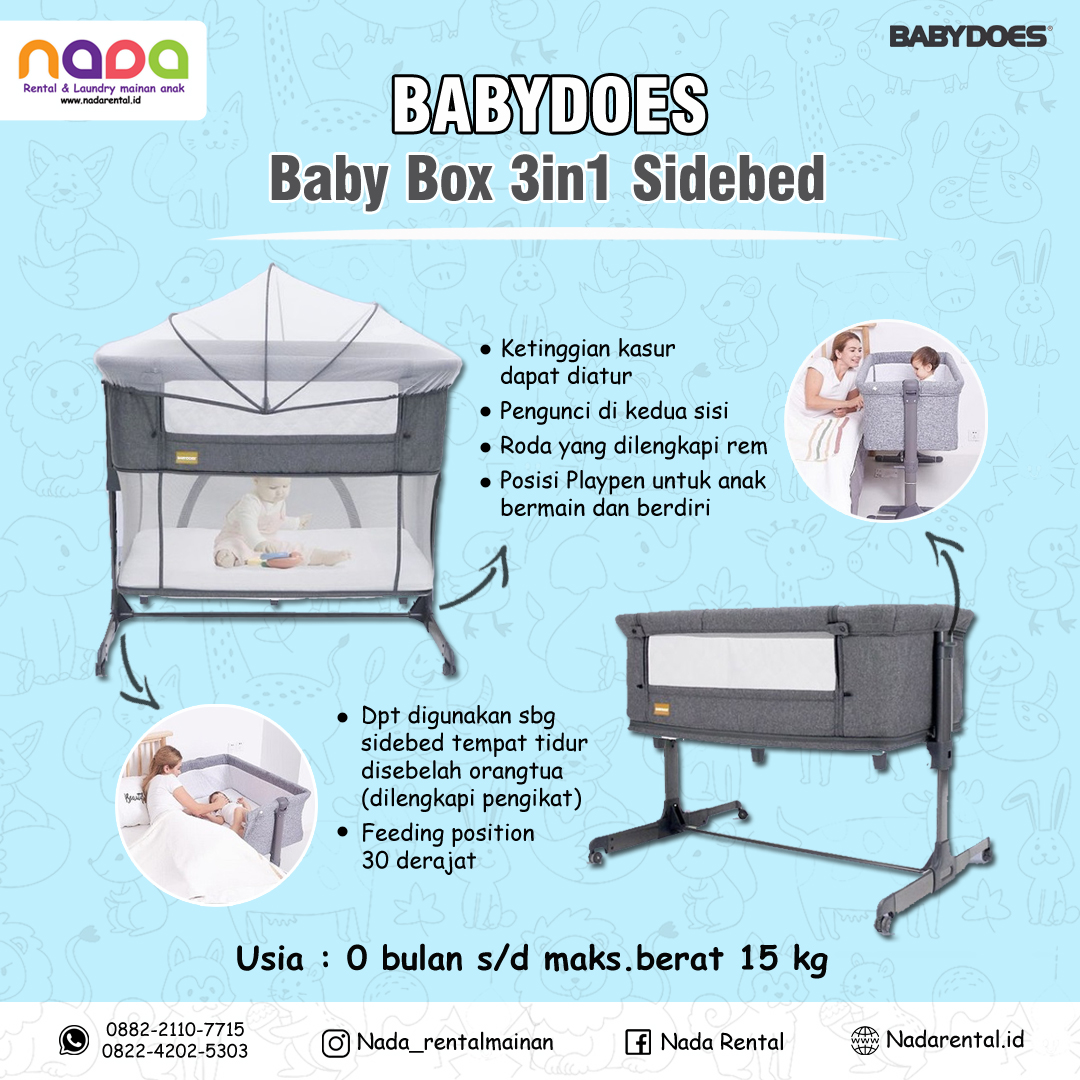 BOX BAYI 3-IN-1 SIDE BED