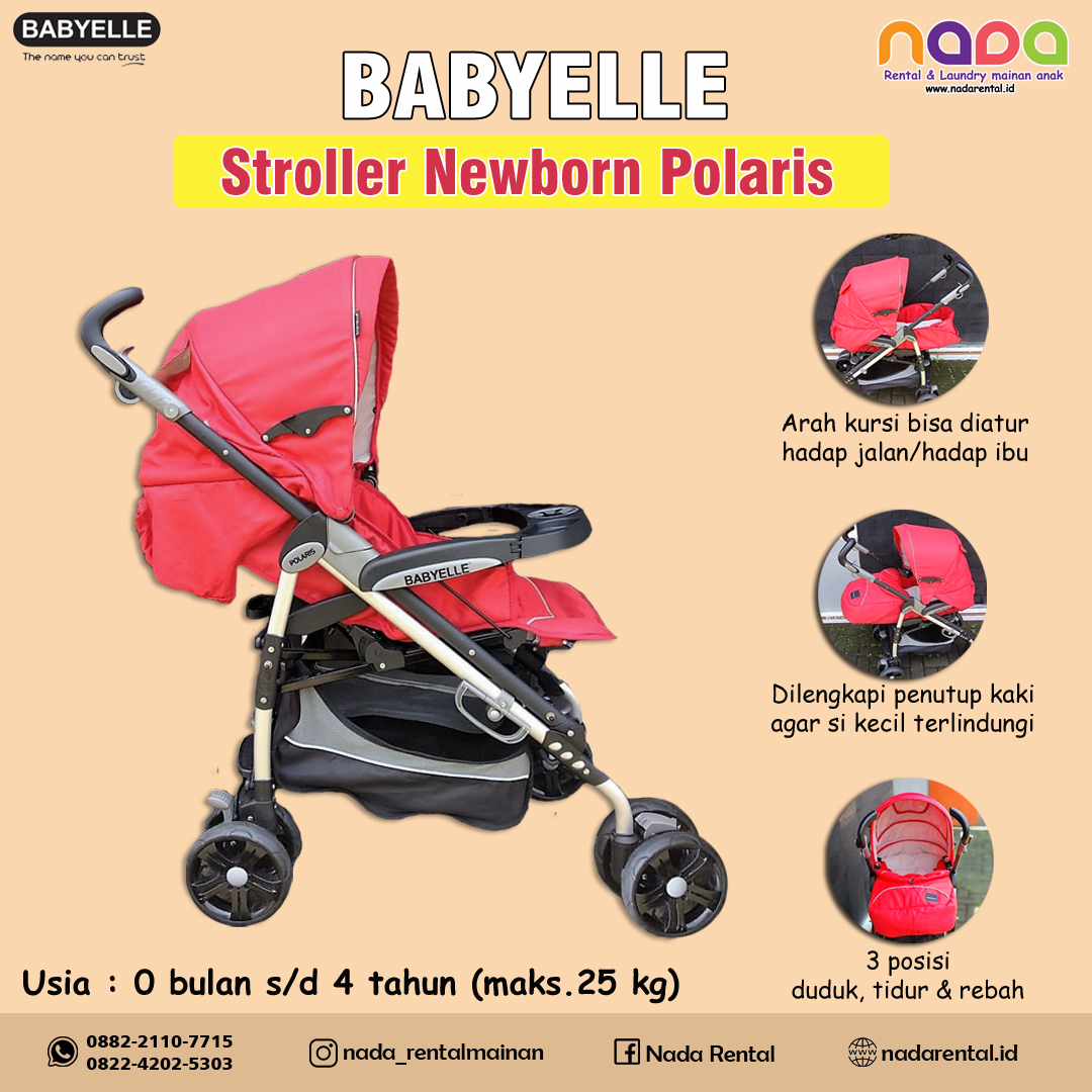 STROLLER BABY ELLE POLARIS 323