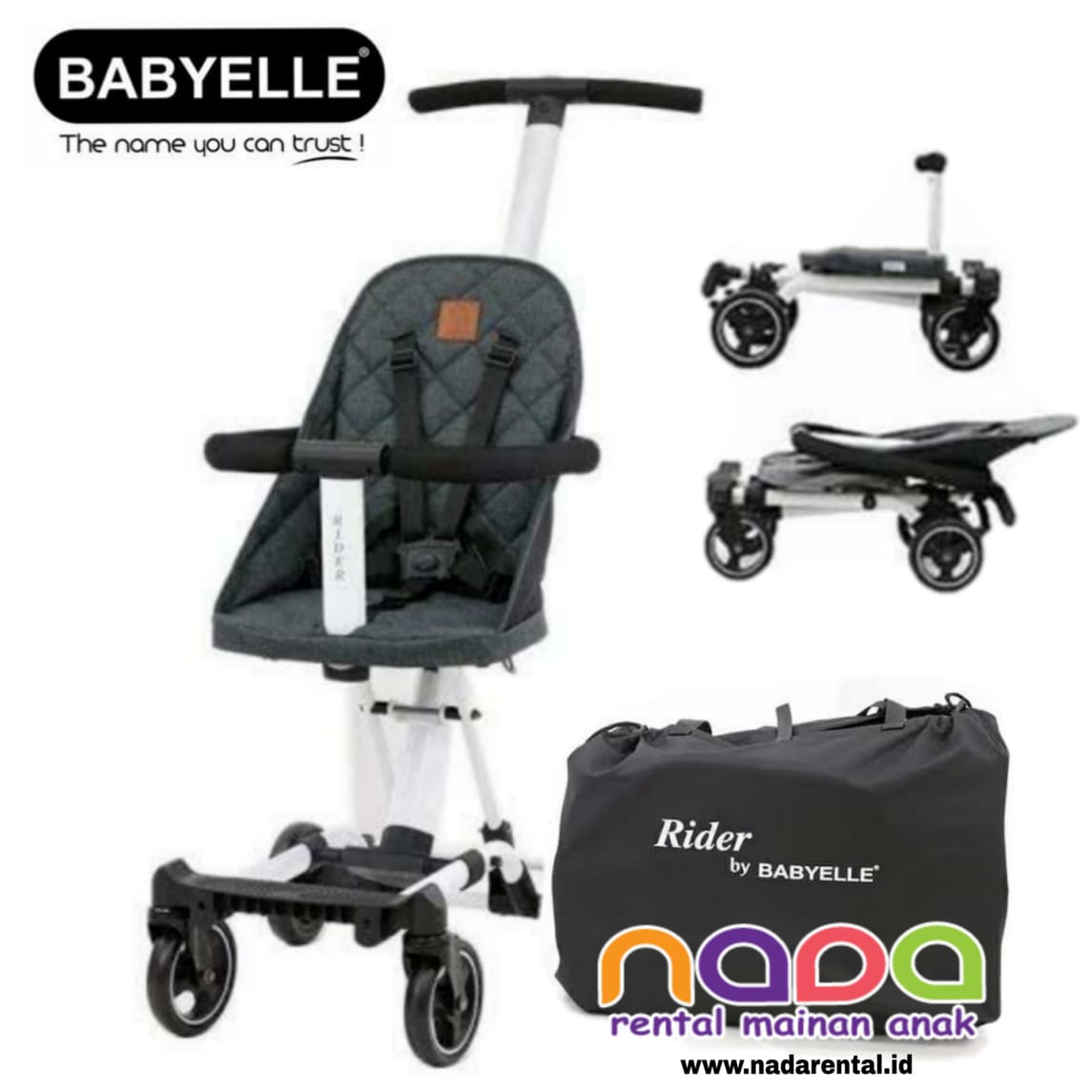 BABY ELLE RIDER DARK GREY