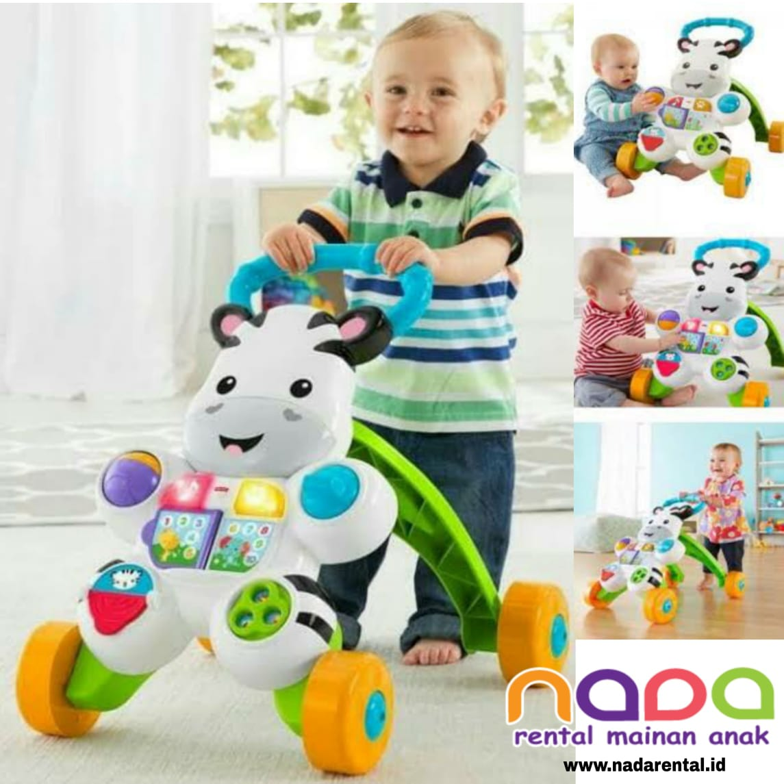 PUSH WALKER FISHER PRICE ZEBRA