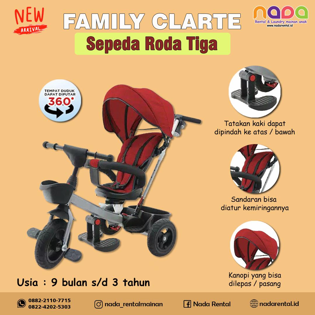 SEPEDA RODA TIGA FAMILY CLARTE