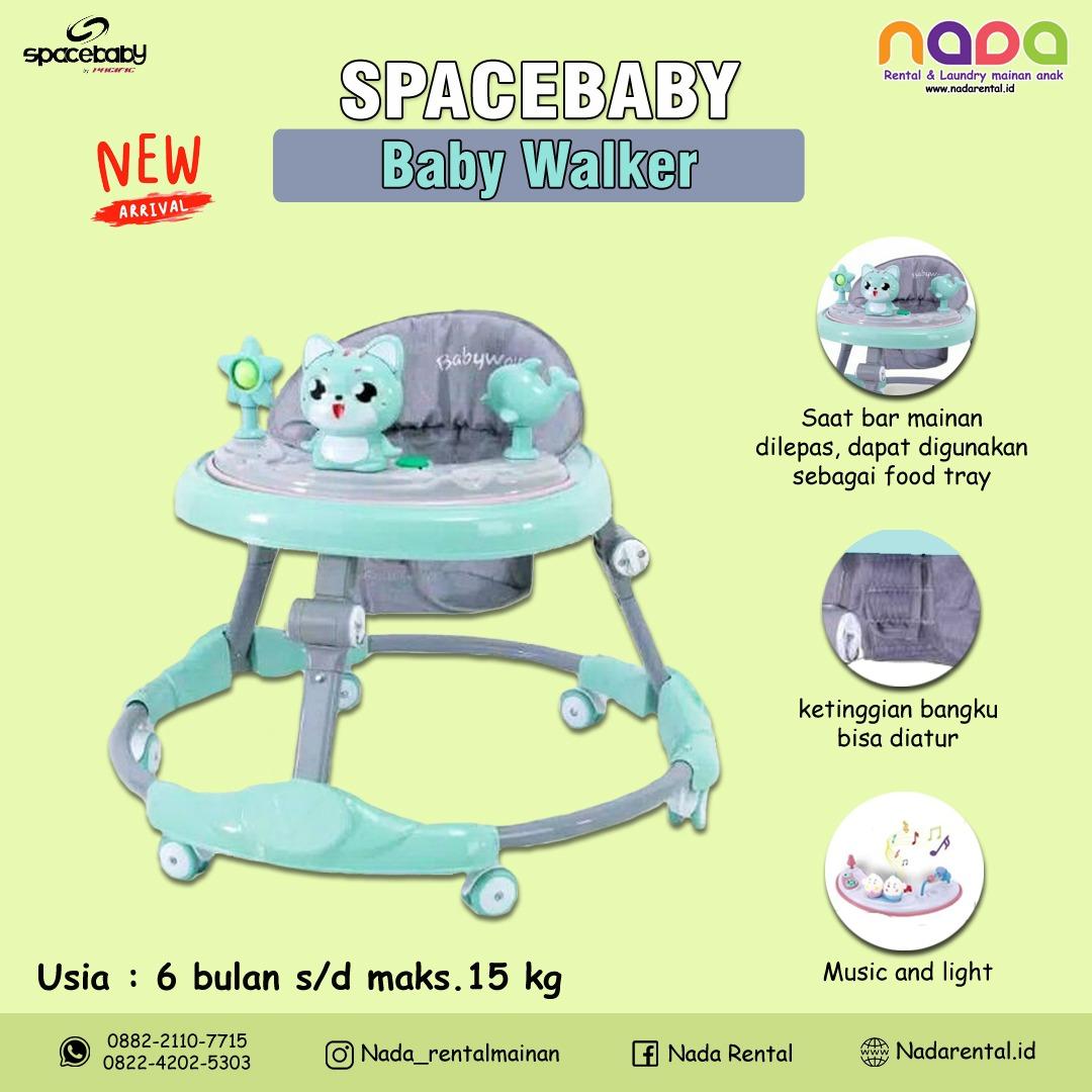 BABY WALKER SPACE BABY GREEN