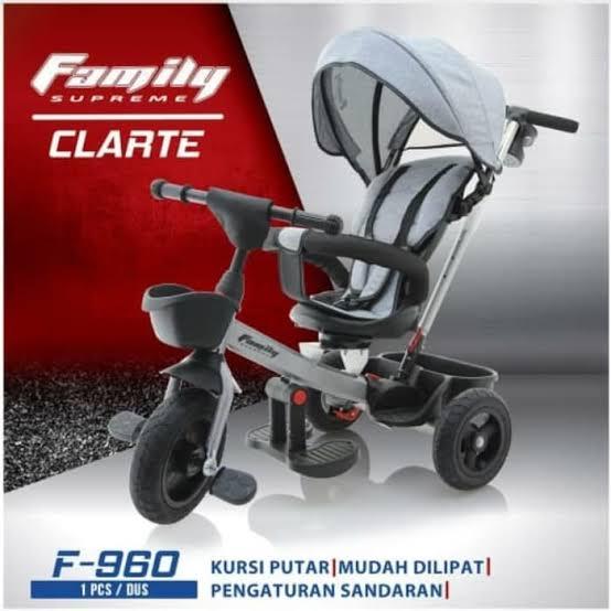 SEPEDA RODA TIGA FAMILY CLARTE - UT